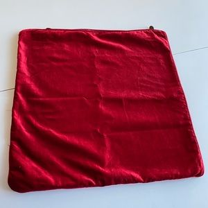 "20"" red pillow cover"